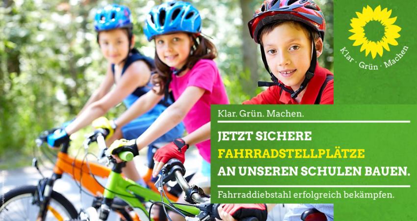 Jetzt sichere Fahrradstellplätze an unseren Schulen bauen und damit den Fahrraddiebstahl erfolgreich bekämpfen.