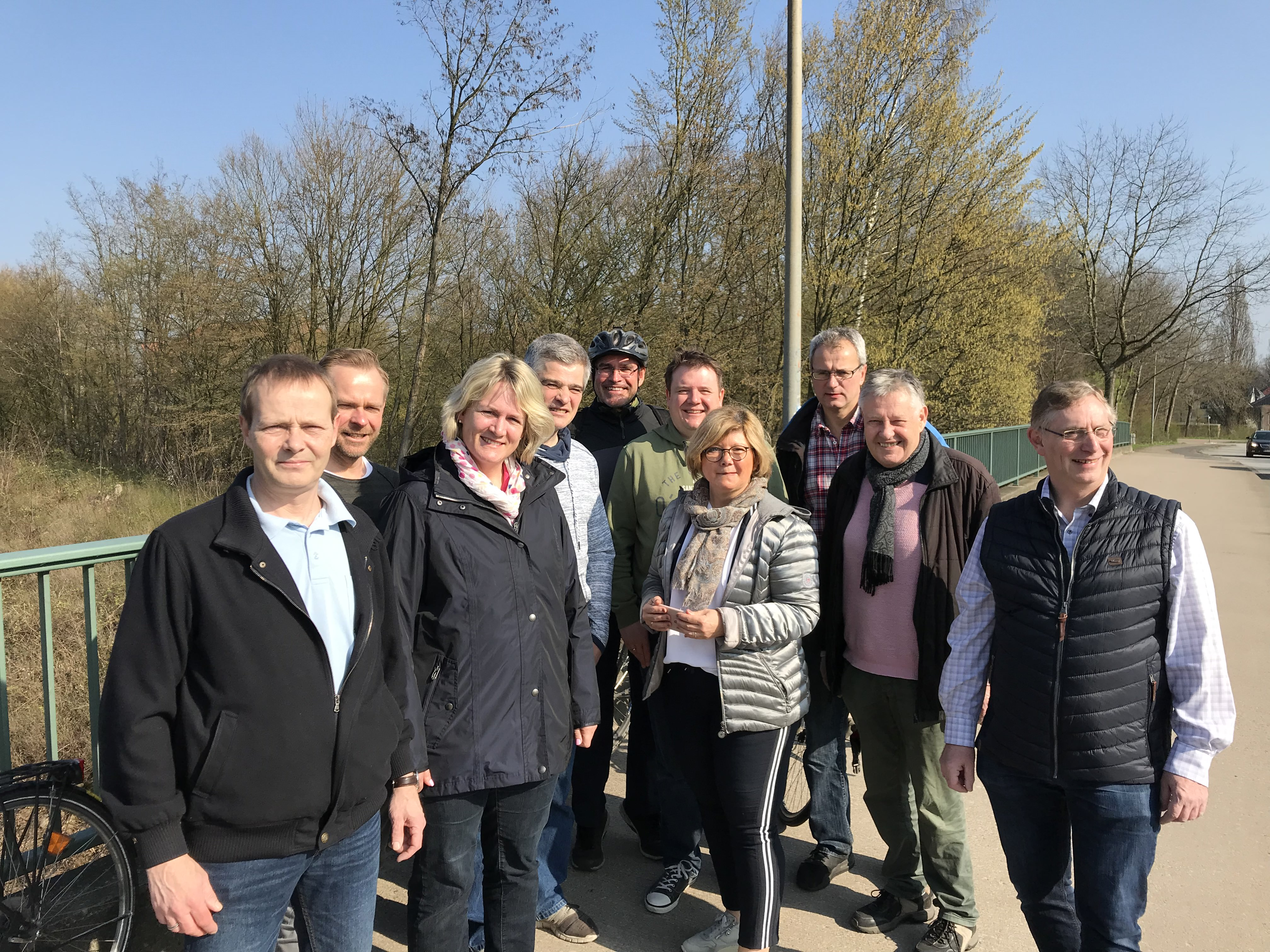 Schnelle Wege durch Elmshorn – Gemeinsame Radtour der beiden Fraktionen CDU und Bündnis 90/Die Grünen