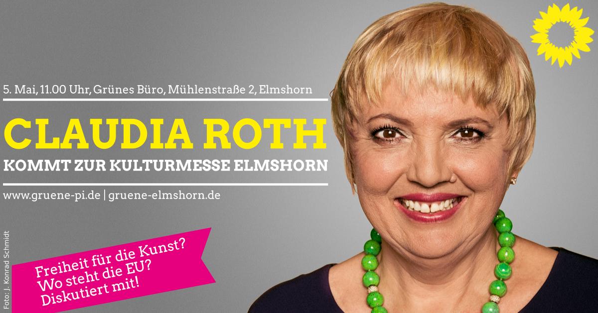 Claudia Roth kommt zur Kulturmesse nach Elmshorn