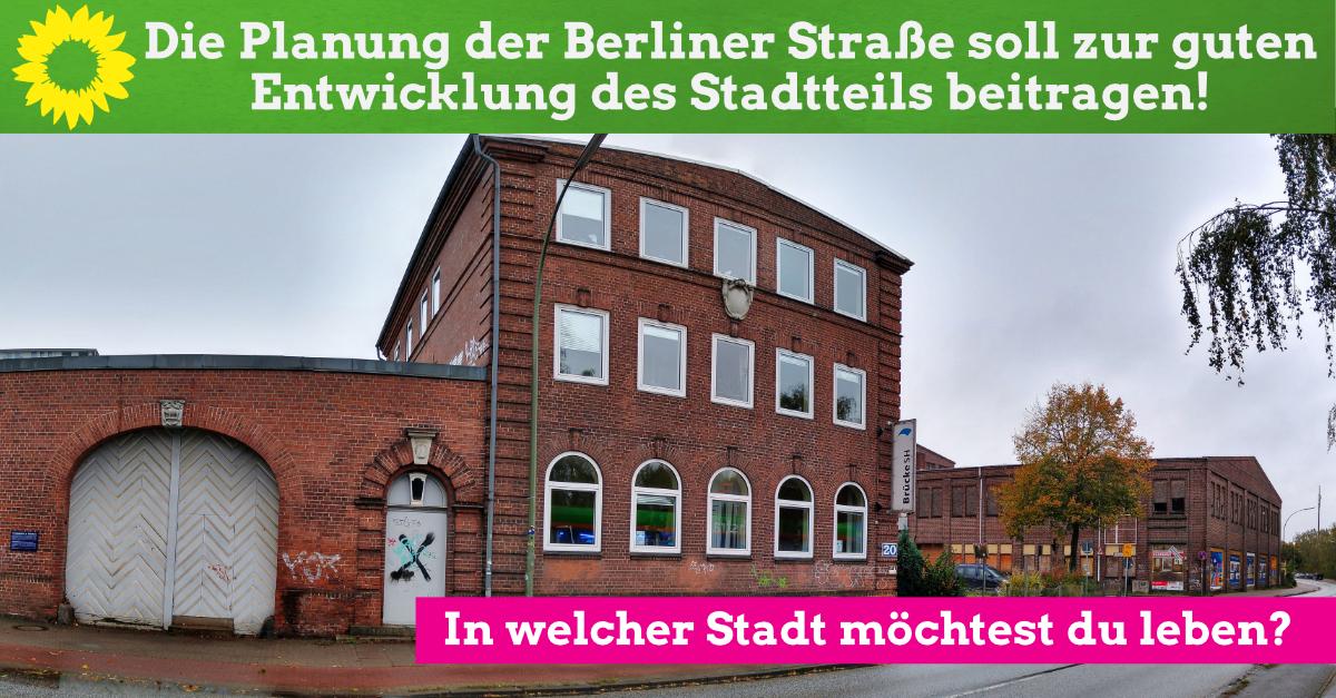 Die Planung der Berliner Straße soll zur guten Entwicklung des Stadtteils beitragen